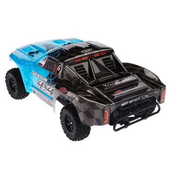 Arrma Senton 4x4 Mega 1/10 Short Course Truck RTR (Blue/Black) w/Spektrum 2.4GHz Radio