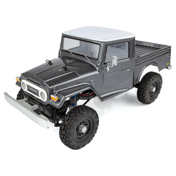 Team Associated CR12 Toyota FJ45 Truck RTR 1/12 4WD Rock Crawler (Grey) w/2.4GHz Radio, Battery & Charger