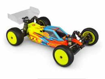 """JConcepts TLR 22 4.0 & 5.0 """"F2"""" Buggy Body w/Aero Wing (Clear) (JCO0319)"""