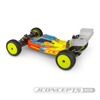 """JConcepts TLR 22 4.0 & 5.0 """"F2"""" Buggy Body w/Aero Wing (Clear)"""