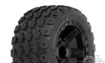 "Pro-Line Dirt Hawg 2.8"" Tires w/Desperado Electric Rear Wheels (2) (Black) (M2) w/12mm Hex (PRO1175-13)"