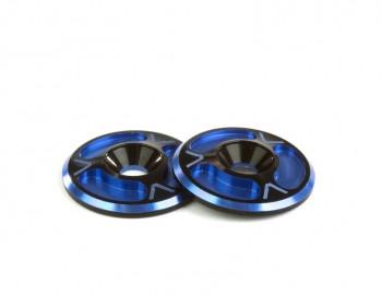 Avid RC Triad Wing Buttons (HD) (Dual Blue/Black) (AV10012-DBLU)