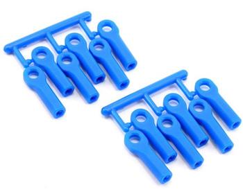 RPM Long Traxxas Turnbuckle Rod End Set (Blue) (12) (RPM80515)