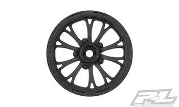 "Pro-Line 2WD Pomona Drag Spec 2.2"" Front Drag Racing Wheels (2) w/12mm Hex (Black) (PRO2775-03)"