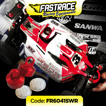 """FasTrace """"Red Edition"""" shock absorber cap """"4hole"""" with HoneyComb membranes SWORKZ (2 + 2)"""