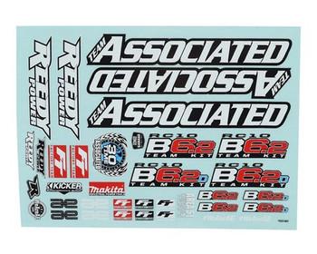 Team Associated RC10 B6.2 Decal Sheet