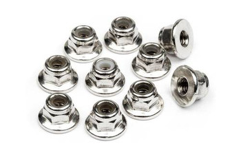 HB Racing FLANGED LOCK NUT M3 (10pcs) (HBS103671)