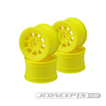 "JConcepts 9 Shot 2.2"" Rear Buggy Wheels (4) (Yellow)"