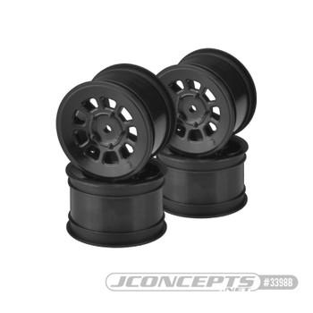 "JConcepts 9 Shot 2.2"" Rear Buggy Wheels (4) (Black)"