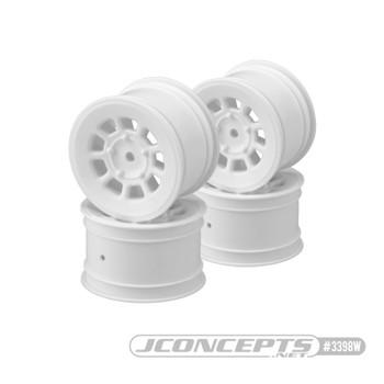 "JConcepts 9 Shot 2.2"" Rear Buggy Wheels (4) (White)"