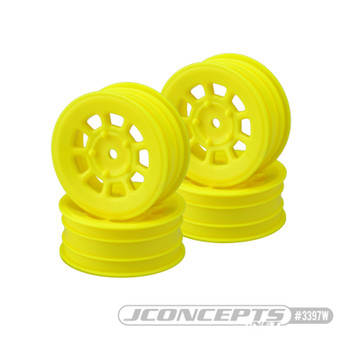 """JConcepts 9 Shot 2.2"""" Front Buggy Wheels (4) (Yellow)"""