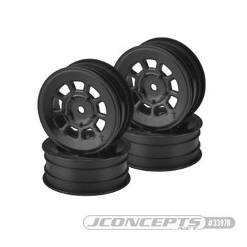 "JConcepts 9 Shot 2.2"" Front Buggy Wheels (4) (Black)"