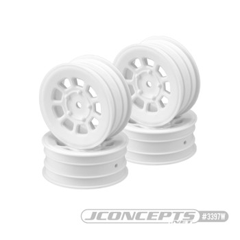 "JConcepts 9 Shot 2.2"" Front Buggy Wheels (4) (White)"