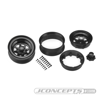 "JConcepts Colt 1.9"" Beadlock Wheel w/Cap (2) (Black)"