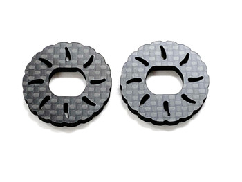 Assault RC Carbon Fiber Vented Brake Rotor Set (2pcs) for JQ Racing Black Edition