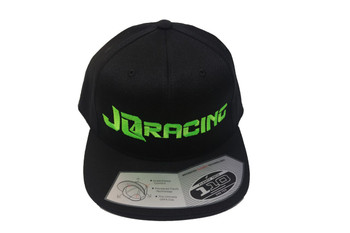 JQ Racing Flexfit Tech Snap Back hat (Black)