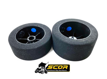 BSR Dirt Oval Foam Front/Rear Combo (Blue) (S.C.O.R.)