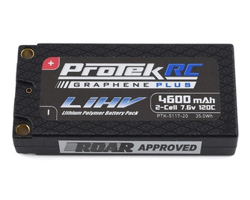 ProTek RC 2S 120C Low IR Si-Graphene + HV LCG Shorty LiPo Battery (7.6V/4600mAh) w/5mm Connectors (ROAR Approved)