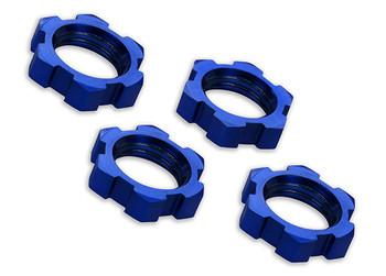 Traxxas X-Maxx 17mm Splined Wheel Nut (Blue) (4) (TRA7758)