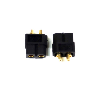 Assault RC Blacked Out High Current XT60 Connectors (2) (Female/Battery)