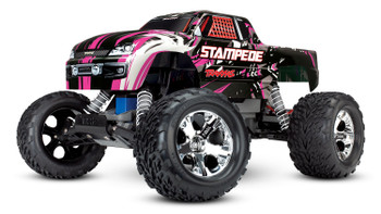 Traxxas Stampede 1/10 RTR Monster Truck (Pink) w/XL-5 ESC, TQi 2.4GHz Radio, Battery & DC Charger