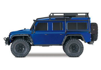 Traxxas TRX-4 Scale And Trail Crawler 4WD, 1/10 Scale, RTR, Land Rover Defender Body - Blue
