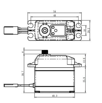 "Savox SB-2273SG-CE Ryan Cavalieri ""High Torque"" Brushless Servo (High Voltage)"
