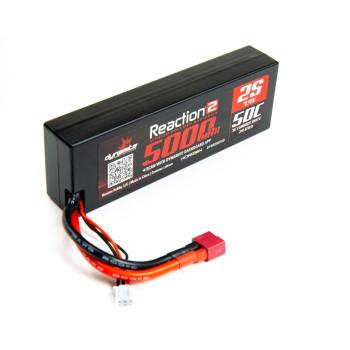 Dynamite 7.4V 5000mAh 2S 50C Reaction 2.0 Hardcase LiPo Battery (Deans/T-plug)