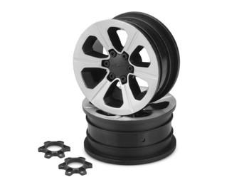 """JConcepts Hustle 1.9"""" Rock Crawler Wheels (2) (Chrome) (JCO3373B)"""