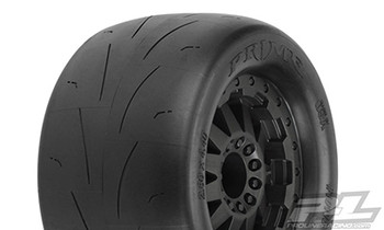 "Pro-Line Prime 2.8"" Pre-Mounted w/F-11 Electric Rear Wheels (2) (Black) w/12mm Hex (PRO10116-15)"