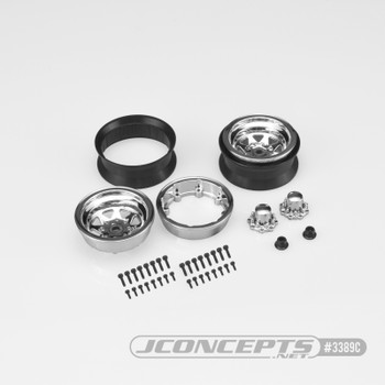 "JConcepts Colt 1.9"" Beadlock Wheel w/Cap (2) (Chrome)"