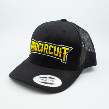 ProCircuit Original Snapback Retro Trucker Hat (Black)