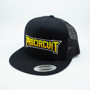 ProCircuit Original Snapback Retro Trucker Hat (Black) (Flat Bill)