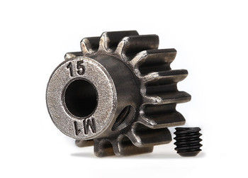 Traxxas Hardened Steel Mod 1.0 Pinion Gear w/5mm Bore (15T) (TRA6487X)