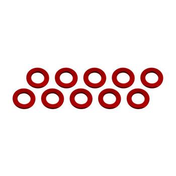 Ultimate Racing ALUMINUM SHIM (3X6X0.5MM) RED (10PCS)