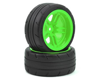 "Traxxas 4-Tec 2.0 1.9"" Response X-Tra Wide Rear Pre-Mounted Tires w/Split-Spoke (Green)"