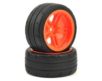 "Traxxas 4-Tec 2.0 1.9"" Response X-Tra Wide Rear Pre-Mounted Tires w/Split-Spoke (Orange)"