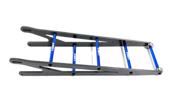 Assault RC Carbon Fiber Adjustable Street Eliminator Wheelie Bar (Slash/Bandit) (Blue)