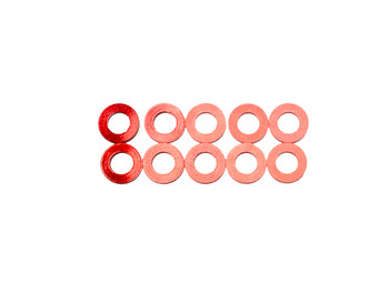 Assault RC Revolver M3x.5mm Ball Stud Washer Set (Red) (10)