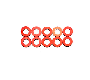 Assault RC Revolver M3x1mm Ball Stud Washer Set (Red) (10)