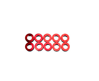 Assault RC Revolver M3x2mm Ball Stud Washer Set (Red) (10)