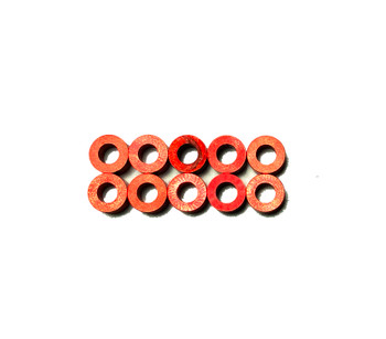 Assault RC Revolver M3x3mm Ball Stud Washer Set (Red) (10)