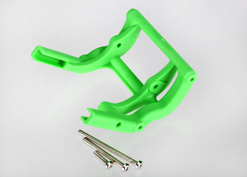 TRAXXAS Wheelie bar mount (1) / hardware (Green) (TRA3677G)