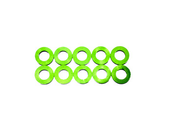 Assault RC Revolver M3x.5mm Ball Stud Washer Set (Green) (10)