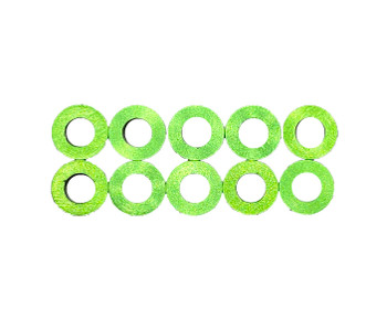 Assault RC Revolver M3x2mm Ball Stud Washer Set (Green) (10)