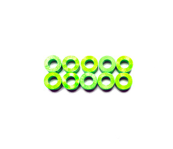 Assault RC Revolver M3x3mm Ball Stud Washer Set (Green) (10)