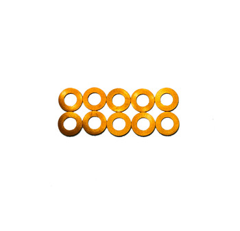 Assault RC Revolver M3x.5mm Ball Stud Washer Set (Orange) (10)