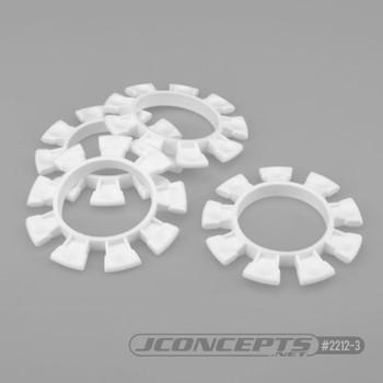 JCONCEPTS 1/8-1/10 Satellite Tire Rubber Bands - White (JCO2212-3)
