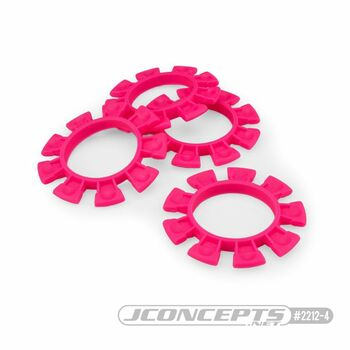 JCONCEPTS 1/8-1/10 Satellite Tire Rubber Bands - Pink (JCO2212-4)