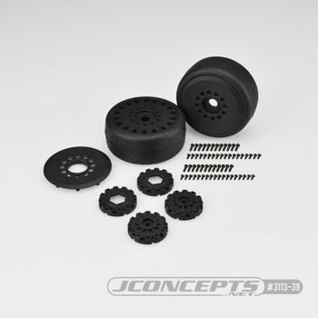JConcepts Speed Fangs Belted Tire Pre-Mounted w/Cheetah Speed-Run Wheel (Black) (JCO3113-39)